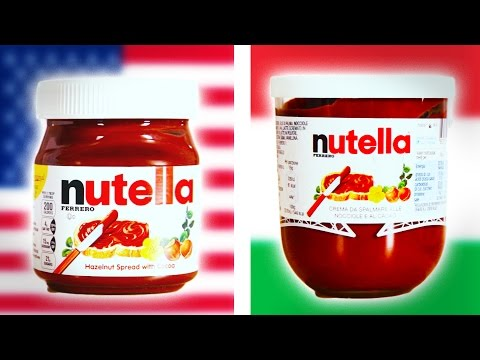 nutella americana vs nutella italiana