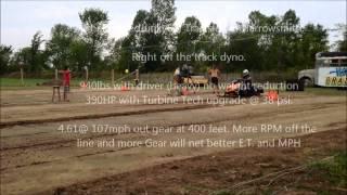 10. Full weight Z1 390HP grass drag