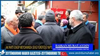Başkan Murat Aydın Üsküp Meydanında Halka Seslendi