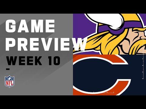 Minnesota Vikings vs. Chicago Bears   NFL Week 10 Game Preview
