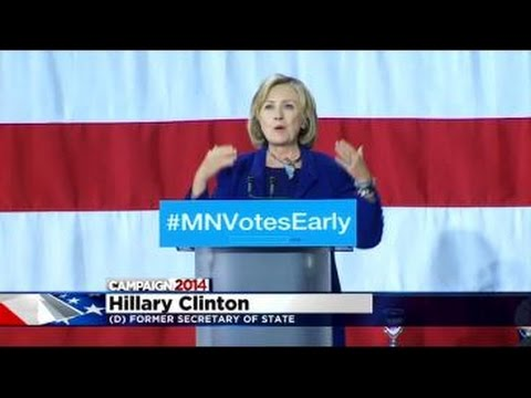 Minn. Democrats Hope A Visit From Clinton Will Help Poll Numbers