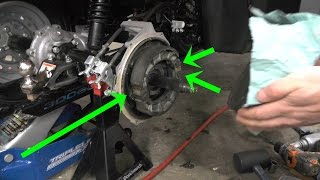 10. How to change Rear Brakes on Honda Rancher 350: also Stuck rear BRAKE Fix: 2000-2007 and 2014-16 420
