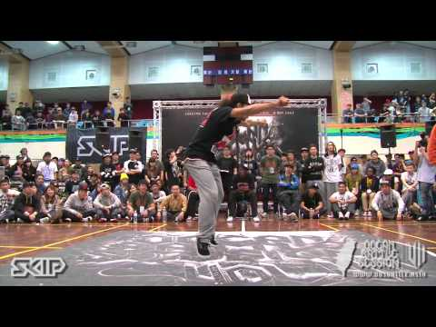 Hip-Hop Semifinal-2 Dedson Killa vs Aka Kin | 20130303 OBS VOL.7 TAIWAN FINAL