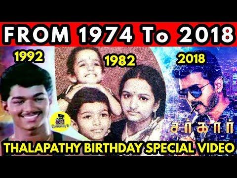 Video SARKAR - From 1974 to 2018 - Thalapathy Vijay's  Birthday Special   Rare Photos & Video's   Vijay download in MP3, 3GP, MP4, WEBM, AVI, FLV January 2017