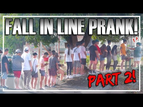 Fall In Line Prank Part 2