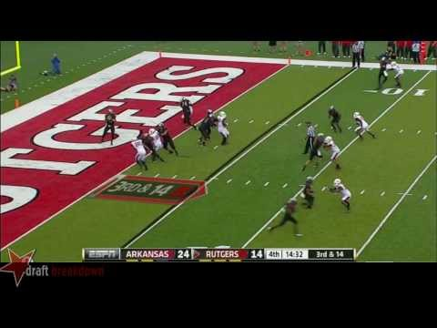Tyler Kroft vs Arkansas 2013 video.
