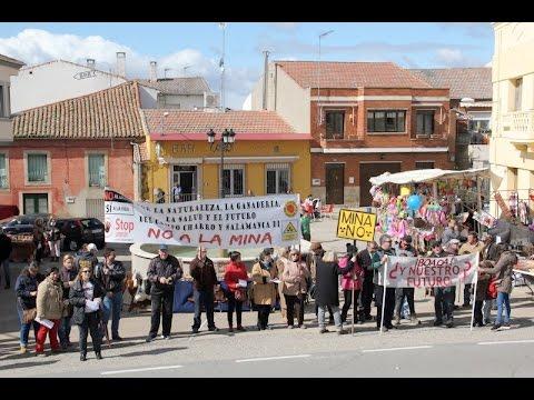 Manifestación de Stop Uranio en La Fregeneda en marzo. Vídeo: Toño González