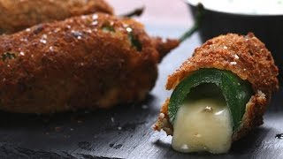 Cheese-Stuffed Jalapeño Poppers // Presented by Fondoodler by Tasty