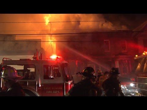 East Newark, NJ Fire Department Multiple Alarm Fire