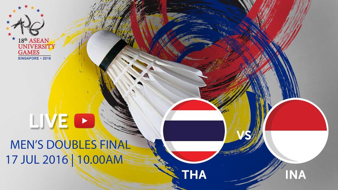 Badminton Men's Doubles Finals | 18th ASEAN University Games Singapore 2016