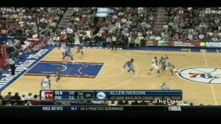 Allen Iverson Returns To the 76ers All Points AI Denver VS Nuggets Game 12 07 09