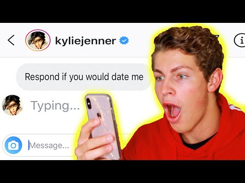 DM'ing 100 CELEBRITIES TO SEE WHO WOULD REPLY! **it Worked**