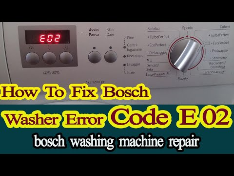 bosch washing machine error code e02