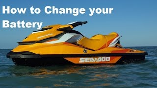 9. How to Remove,Replace,Change a SeaDoo GTI/ GTR  Battery