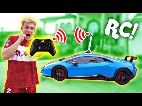 I Made My Lamborghini Remote Controlled!! (insane)