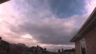 Timelapse from Clifton, Bristol - Mon 23 Feb 2015