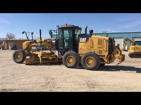 CATERPILLAR RÓWNIARKI SAMOBIEŻNE 140M2 equipment video kI-F5r2CsY4
