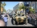 The Expendables 3: Arnold, Sylvester Stallone, Harrison Ford and Mel Gibson Ride a Tank