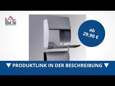 Homcom Edelstahl Briefkasten Postkasten Wandbriefkasten Mailbox inkl. Zeitungsrolle - direkt kaufen!