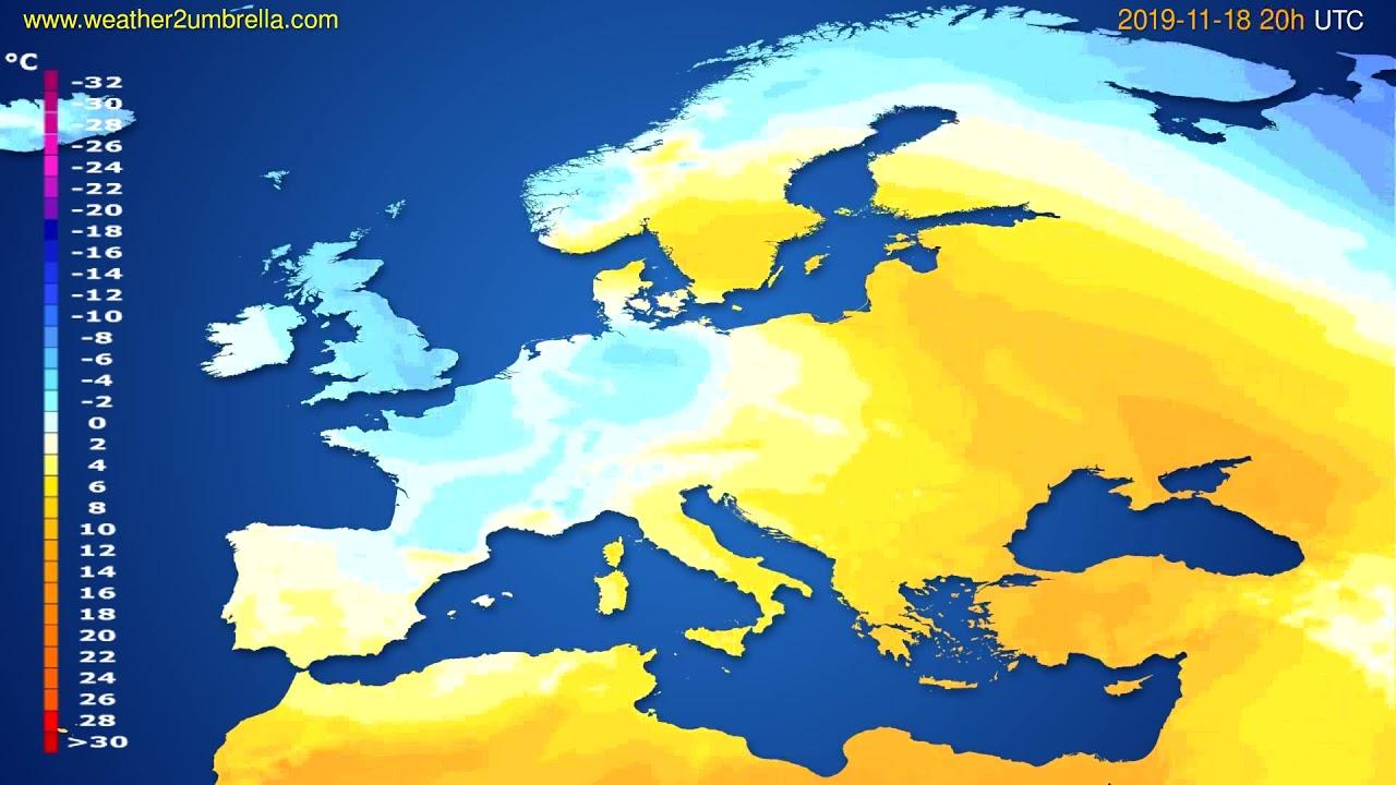 Temperature forecast Europe // modelrun: 12h UTC 2019-11-17