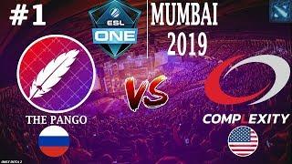 ПАНГО БЬЮТСЯ за ЖИЗНЬ на ЕСЛ! | Pango vs coL #1 (BO3) | ESL One Mumbai 2019