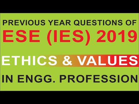 Ethics and Values | ESE (IES) 2019 Previous Year Questions | Compete India Zone | CIZ