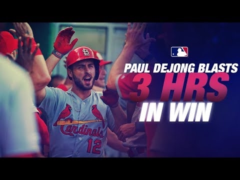 Video: Cardinals Paul DeJong goes deep THREE times in game