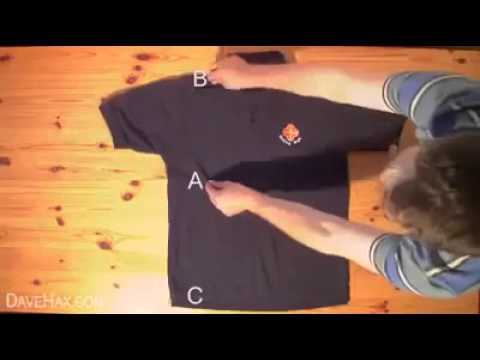 piegare una maglietta in meno di due secondi!