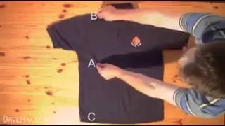 چگونه در ۳ ثانیه پیراهن خود را تا کنیم