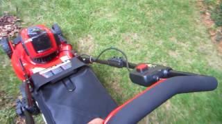 7. Snapper XD 21in 82V cordless battery mower - Wet leaves, worst case
