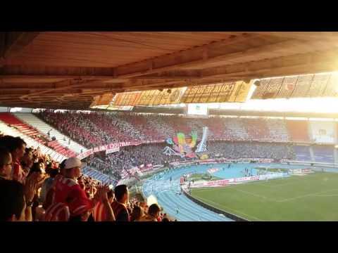 Salida Frente rojiblanco sur Junior vs Santafe - Frente Rojiblanco Sur - Junior de Barranquilla