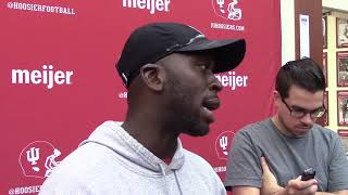 Watch and listen to what IU cornerbacks coach Brandon Shelby had to say following IU's latest practice in fall camp.