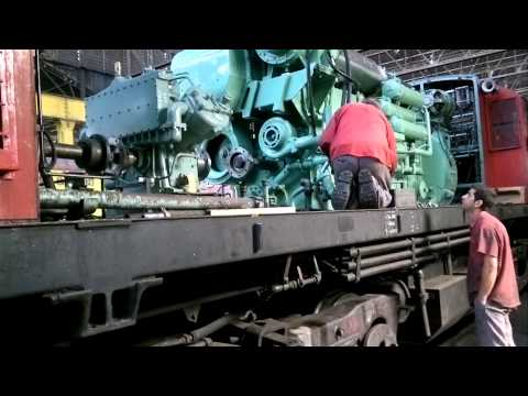 Repair and testing Diesel engine Locomotive ALCO RSD-35 #6447
