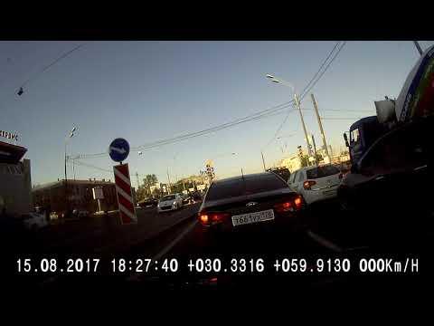 Авария с велосипедистом в Питере