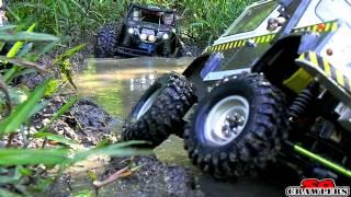 Video 10 trucks offroad Trail Adventures: Land Rover D90 Honcho Axial Wraith AX10 Traxxas Summit MP3, 3GP, MP4, WEBM, AVI, FLV Mei 2019