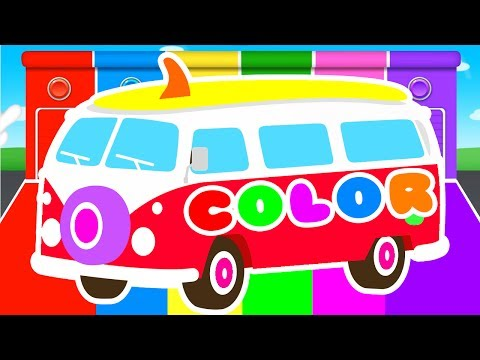 FUNNY BUS & COLORS for Kids - Cars Learning Educational Video - Superheroes for babies toddlers_Legjobb videók: Vicces