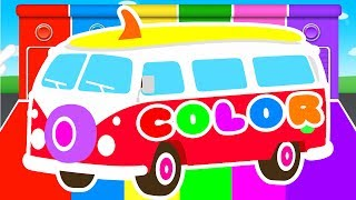 Video FUNNY BUS & COLORS for Kids - Cars Learning Educational Video - Superheroes for babies toddlers MP3, 3GP, MP4, WEBM, AVI, FLV Mei 2017