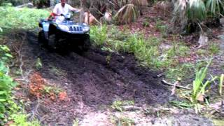 7. Arctic Cat 500 4x4 Mudding