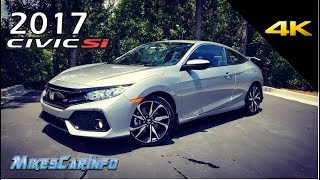 2017 Honda Civic SI Test Drive Experiencehttps://youtu.be/gz9N81L1PKMhttp://www.mikescarinfo.com/Special thanks to:East Coast Honda8756 A Highway 17 Bypass South Myrtle Beach, SC 29588888-546-5571http://www.eastcoastcars.net/Equipment I use:Camera - http://amzn.to/2ufgIyVWide Angle lens - http://amzn.to/2rZd1fUMicrophone - http://amzn.to/2rYQq3kJib - http://amzn.to/2ueXtppStabilizer - http://amzn.to/2ufpoW4Slider - http://amzn.to/2seINKbWind Filter 1 - http://amzn.to/2thRB1DWind Filter 2 - http://amzn.to/2sezuK4Wind Filter 3 - http://amzn.to/2senR6fBall head - http://amzn.to/2tU8oVOTripod 1 - http://amzn.to/2sf3Uw5Tripod 2 - http://amzn.to/2sjhwBiAudio recorder 1 - http://amzn.to/2tUhQJ6Audio recorder 2 - http://amzn.to/2tUaeX3Small Camera - http://amzn.to/2thXxaXGraphics Card - http://amzn.to/2sYgeh6Editing Software - http://amzn.to/2tli6nmI work hard to help people learn about new vehicles hitting the market. I work alone and produce high quality videos that compete with big companies (and win in many cases). I need your help to keep helping others. Please invest in the future of free information that is not influenced by big companies.Ways to help:Donate money https://www.paypal.me/MikesCarInfo/25Share my channel and videos directly to people you know. Ask them to subscribe. You can also Buy stuff on Amazon here: http://amzn.to/2cHzlG7Model: 2017 Honda CivicMSRP: From $23,900Horsepower: 205 hpEngine: 1.5 L 4-cylinderCurb weight: 2,889 to 2,906 lbsDimensions: 177-183″ L x 71″ W x 55-56″ HTorque: 192 lb-ftIn-Line 4-CylinderSingle-Scroll MHI TD03 Turbo and Internal WastegateBoost Pressure: 20.3 psiDisplacement1498 cc / 1.5LHorsepower (SAE net)205 @ 5700 rpmTorque (SAE net)192 lb-ft @ 2100-5000 rpmRedline6500 rpmBore and Stroke73.0 mm x 89.5 mmCompression Ratio10.3 : 1Valve Train16-Valve DOHCDirect Fuel InjectionDrive-by-Wire Throttle SystemElectric Parking Brakewith Automatic Brake HoldHill Start AssistDirect Ignition System with Immobilizer100K +/- Miles No Schedul