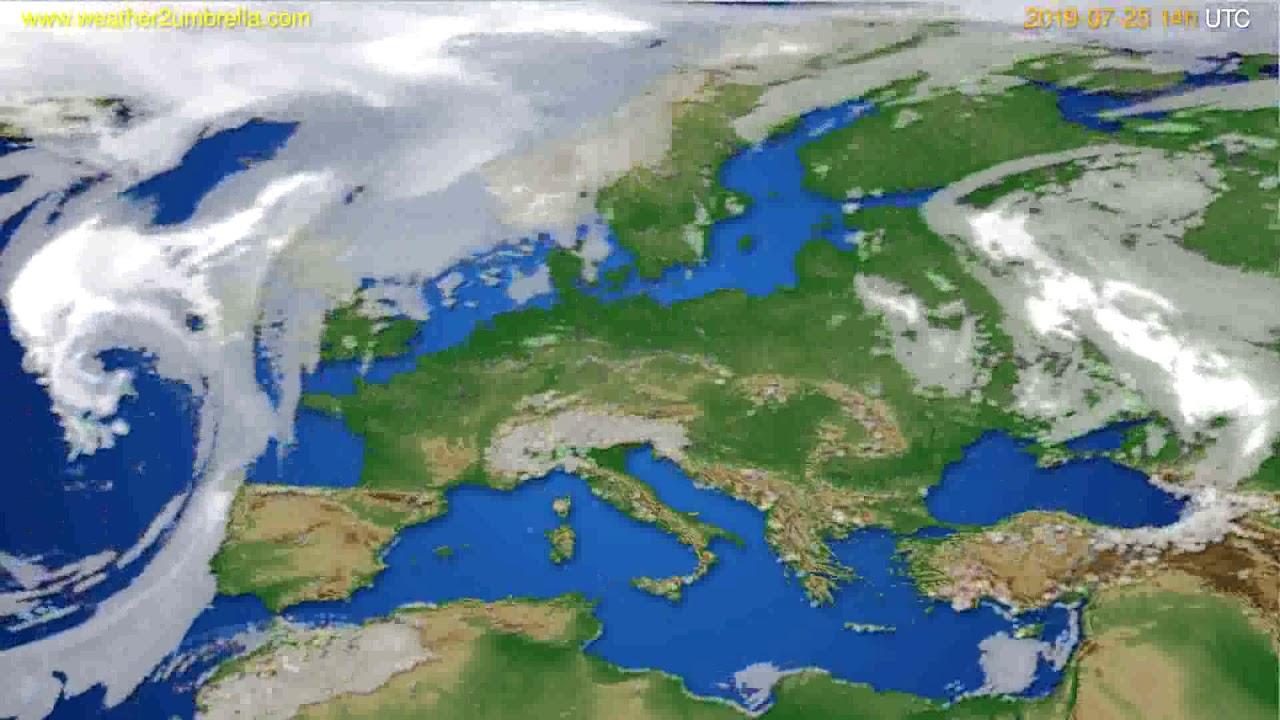 Cloud forecast Europe // modelrun: 00h UTC 2019-07-23
