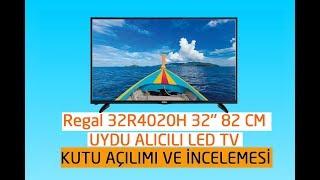 "REGAL 32R4020H 32"" 82 EKRAN UYDU ALICILI LED TV(İNCELEME VE KUTU AÇILIMI)"