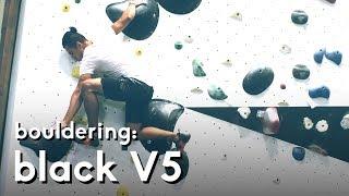 Bouldering: Black V5 problem at Cliffs of ID by  rockentry
