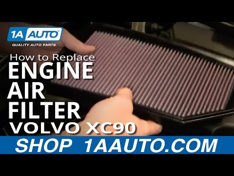 How To Install Replace Engine Air Cleaner Filter Volvo XC90 03-12 1AAuto.com