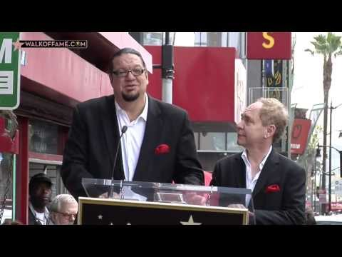 Penn & Teller Walk of Fame Ceremony