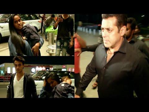 Salman Khan | Arpita Khan Sharma | Aayush Sharma Spotted At Airport For Visit Dabang Tour