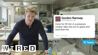 Gordon Ramsay Answers Cooking Questions From Twitter | Tech Support | WIRED