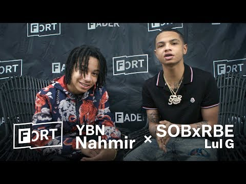 When YBN Nahmir Met Lul G (SOB X RBE) - FADER FORT 2018