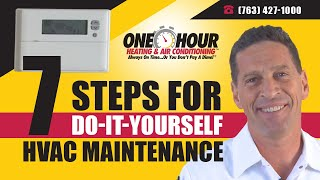 Video HVAC Maintenance - 7 Steps - Do It Yourself - Repair - One Hour Heating and Air Conditioning MP3, 3GP, MP4, WEBM, AVI, FLV Juni 2018