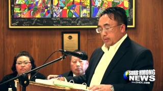 Suab Hmong News:  Nao Sia Lor Speaks at Lao Family Foundation Press Conference