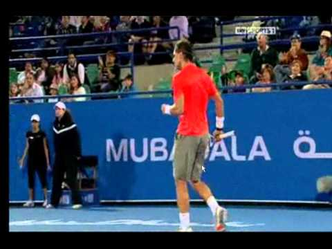 Rafa Nada vs Berdych Abu Dhabi 2011 Semi Final